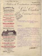 Lettre 1903 - TOURNAI - LOUIS CARTON -Ateliers Constructions Mécaniques-Fonderie De Fer, Grues, Broyeurs, Concasseurs - Belgique