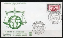 NOUVELLE-CALEDONIE  FDC 1 JOUR 50f Noir Carmin 1963 N°313 - Nouvelle-Calédonie
