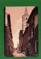 30 - MONTFRIN      L'eglise XII E Siecle Et La Grande Rue N° 11 Cpsm Année 1941  Animée Voiture D'époque - Autres Communes