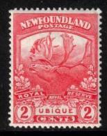 Canada Newfoundland Scott 116 - SG131, 1919 Caribou 2c MH* - 1908-1947