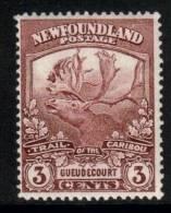 Canada Newfoundland Scott 117 - SG132, 1919 Caribou 3c MH* - 1908-1947