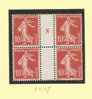 1908 - Millésime 8 - Type 10c Semeuse Camee - Sans Charniere - Cote + 18.00 Euros - Millesimes