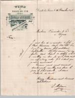 Entête Du 26/12/1895 EDOUARD MIGRAINE - Vins & Eaux-de-vie - Déville-lès-Rouen - 1800 – 1899