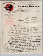 Entête Du 07/04/1922 ERNEST BOURIN - Quinquina Vouvray - Romagne - 1900 – 1949