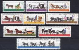 POLAND 1965 Coaches Set MNH / **.  Michel 1644-52 - Unused Stamps