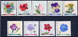 POLAND 1967 Meadow Flowers Set MNH / **.  Michel 1781-89 - 1944-.... Republic