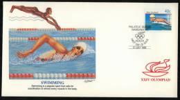 FDC - Enveloppe Premier Jour - Nouvelle-Zélande - Jeux Olympiques - Séoul - Natation - Swimming - Natation