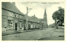 De Pinte - Kerk En Omgeving - Mooi Winkeltje Uit De Fifties - 1959 - De Pinte