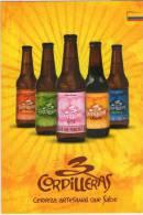 Lote PEP288,  Colombia, 3 Cordilleras, 5 Cervezas, Postal, Postcard, Beer Propaganda Card, Tarjeta De Propaganda - Colombia