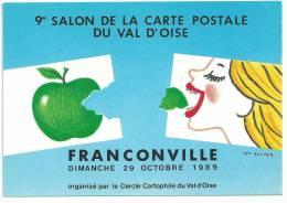 Franconville, 95, France,9ème Salon De La Carte Postale 26/10/869  Tirage 165 / 1500 Illustrateur Léo Kouper - Bourses & Salons De Collections