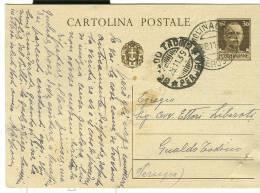 STORIA POSTALE, MOLINACCIO SPOLETO ,PERUGIA, TIMBRO POSTE MOLINACCIO SU CARTOLINA VIAGGIATA  1939 PER GUALDO TADINO, - 1900-44 Victor Emmanuel III
