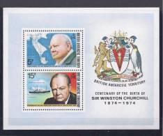 British Antarctica1974:Block 1 Churchill Mnh** - British Antarctic Territory  (BAT)
