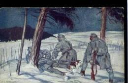 Nachtpatouille Kunstler Josef Diveky Offizielle Karte Rotes Kreuz - Weltkrieg 1914-18