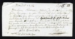 Change-1544     Mandat Saint Dié 1839 - Bills Of Exchange