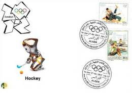 Algeria - N° 1625/6 FDC Jeux Olympiques De Londres 2012 Hockey - Hockey (sur Gazon)