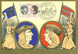 Carte Maximum Card #1962-MONACO# History# 450° Anniversaire Indépendance #King Louis XII And Lucien #Edit.Imbert - Royalties, Royals