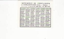 Calendrier 1967 Imprimerie De Montligeon La Chapelle Montligeon (orne) - Petit Format : 1961-70