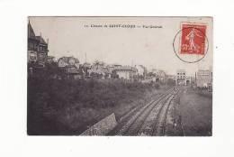Carte 1909 COTEAUX DE ST CLOUD  / VUE GENERALE (ligne Chemin De Fer) - Saint Cloud