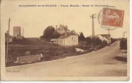 CPA St Laurent De La Plaine, Vieux Moulin, Route De Chalonnes - France