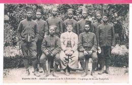 Guerre 1914 Hopital Temporaire De St / Saint Léonard , Un Groupe De Bléssés Sénégalais - War 1914-18