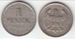 **** ALLEMAGNE - GERMANY - 1 MARK 1924 D - WEIMAR REPUBLIC - ARGENT - SILVER **** EN ACHAT IMMEDIAT - [ 3] 1918-1933 : Weimar Republic