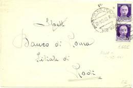 LBL9 - II GM - POSTA MILITARE 62 A DESTINATION DE RODI  27/1/1943 - 9. Besetzung 2. WK (Italien)