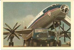 AVION HÉLICE TU 114 AU SOL - 1946-....: Moderne