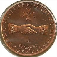 MALTA , ORDRE DE GRANO 10 GRANI 2 HANDS JOINED FRONT SHIELD BACK 1970 PROOF KM.X35 READ DESCRIPTION CAREFULLY!!! - Malte (Ordre De)