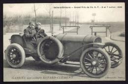 CPA ANCIENNE- FRANCE- SEINE INFERIEURE- GRAND PRIX DE 1908- GABRIEL SUR VOITURE BAYARD-CLÉMENT- TRES GROS PLAN - Non Classés
