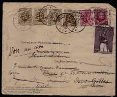 1930 LETTRE UCCLE > ST GILLES ( Inconnu ) > ST GILLES VENDEE FRANCE (inconnu) > PARIS (inconnu) > RETOUR ST GILLES !! - Belgique