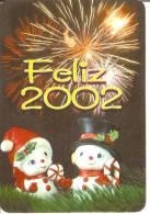 CALENDARIO DEL AÑO 2002 DE PAPA NOEL (NAVIDAD-CHRISTMAS) (CALENDRIER-CALENDAR) - Calendarios