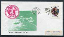1973 USA NASA Skylab 2 Flight Record Kennedy Space Center Cover - Covers & Documents