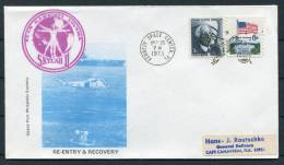 1973 USA NASA Skylab 2 Re-entry & Recovery Kennedy Space Center Cover - Covers & Documents