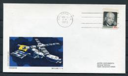 1973 USA NASA Skylab 1+4 Docking Astro Space Cover - Covers & Documents