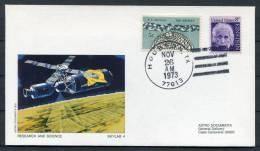 1973 USA NASA Skylab 4 Research & Science Astro Space Cover - Covers & Documents