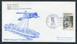 1973 USA NASA Vanguard Tracking Station Cape Canaveral Ship Space Cover - Covers & Documents