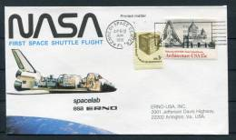 1981 USA NASA ESA Spacelab First Space Shuttle Flight Kennedy Space Center Cover - Covers & Documents