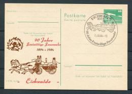 1984 East Germany DDR Eichwalde Feuerwehr Stationery Card - Firemen