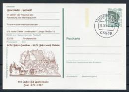 1997 Germany Finsterwalde Feuerwehr Stationery Card - Firemen