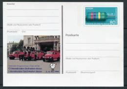 1994 Germany Essen Telefonkarten Messe Feuerwehranlage Stationery Card - Firemen