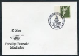 1980 Germany Geilenkirchen Feuerwehr Fire Brigade Postcard - Firemen