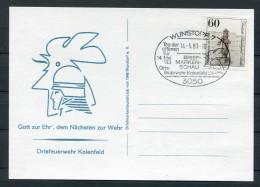1983 Germany Wunstorf Feuerwehr Fire Brigade Postcard - Firemen