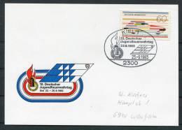 1983 Germany Kiel Jugendfeurwehrtag Feuerwehr Fire Brigade Postcard - Firemen