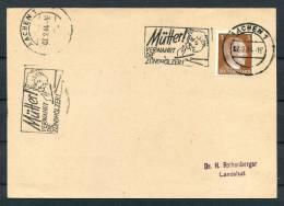 1944 Germany Aachen Children Fire Safety Machine Cancel Postcard - Firemen