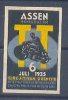 Germany Sport Moto Race In Assen Sticker 1935 Without Gum - Unclassified