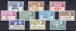 British Antarctic 1963 Transport 10 Values To 1s MNH  SG 1-10 - British Antarctic Territory  (BAT)