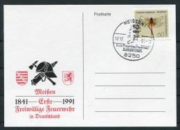 1991 Germany Meissen Feuerwehr Fire Brigade Postcard - Firemen