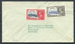 1935 Bermuda Maryland USA Coronation Cover - Bermuda