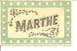 Carte Fantaisie Prenom Marthe - Firstnames