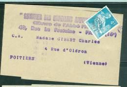 Bande Journal Affranchie Par Préo Type Gerbes 4 Fr   Ab4806 - 1953-1960